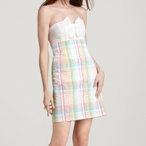 Lilly Pulitzer Summer Plaid Tie Back Franco Dress